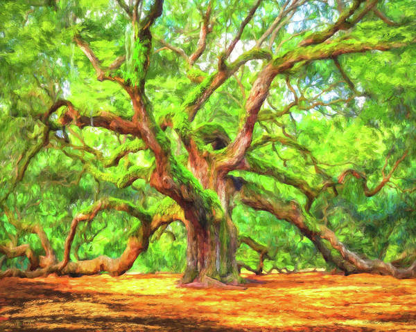Painting - Enduring Angel Oak - South Carolina Landscape by Mark Tisdale