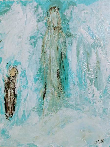 Painting - Angel Of Grief by Jennifer Nease