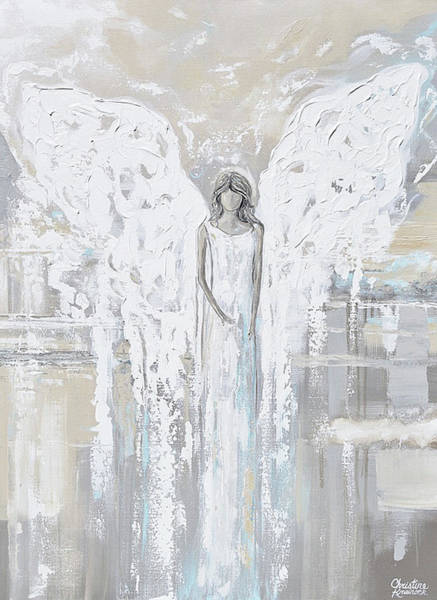 Wall Art - Painting - Angel Of Love by Christine Bell