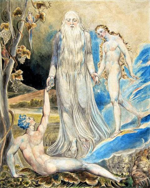 Greek Myths Wall Art - Painting - Angel Of The Divine Presence - Digital Remastered Edition by William Blake