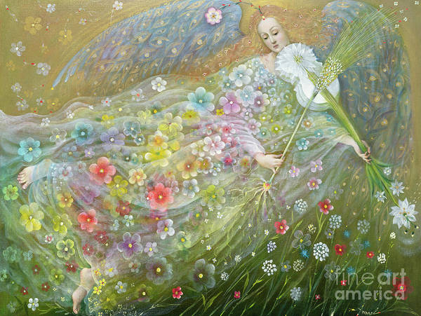 Wall Art - Painting - Angel Of The Wheat by Annael Anelia Pavlova