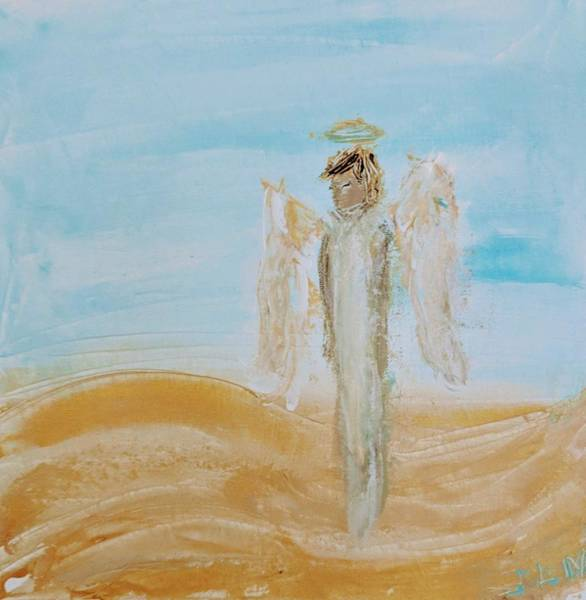 Painting - Angel On The Golden Road by Jennifer Nease