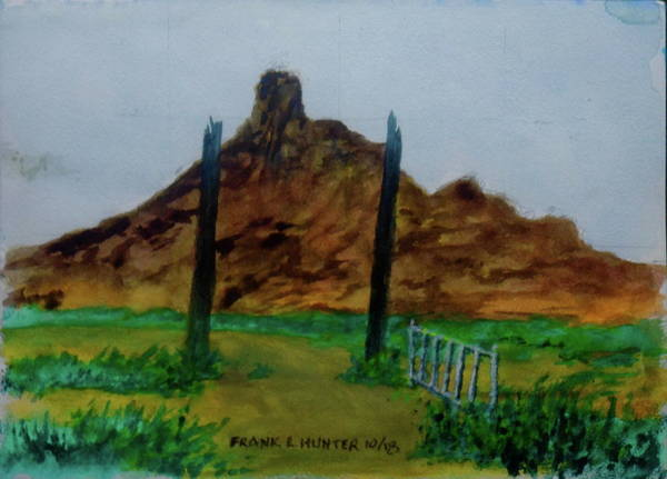 Painting - Angel Peak New Mexico by Frank Hunter