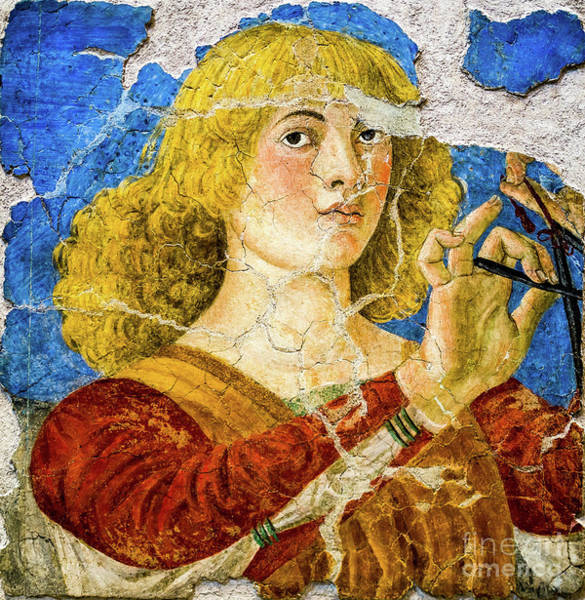 Painting - Angel Playing The Triangle by Melozzo da Forti