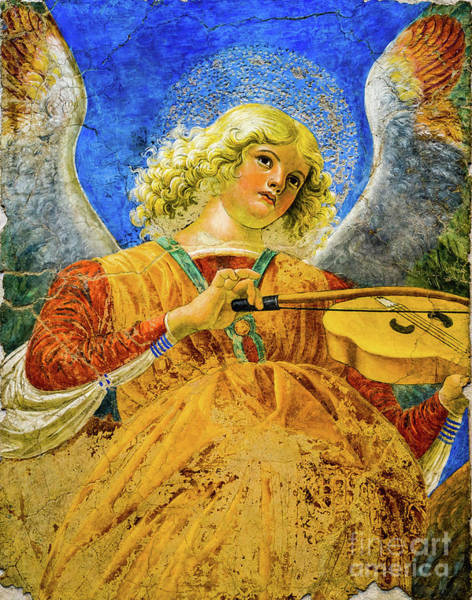 Painting - Angel Playing The Viola by Melozzo da Forti
