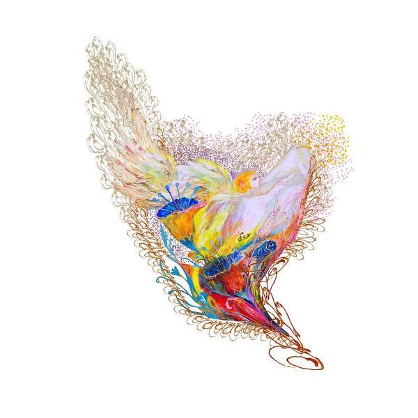 Wall Art - Digital Art - Angel Series #2 by Elena Kotliarker