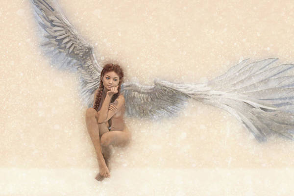 Wall Art - Digital Art - Angel Soft by Betsy Knapp