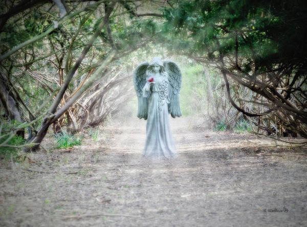 Wall Art - Digital Art - Angel With A Cardinal Fx by Brian Wallace