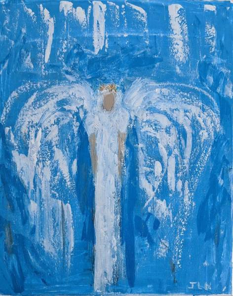 Painting - Angel With A Golden Crown by Jennifer Nease