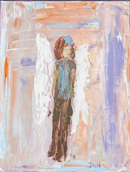 Painting - Angel In A Stable With Her Horse by Jennifer Nease