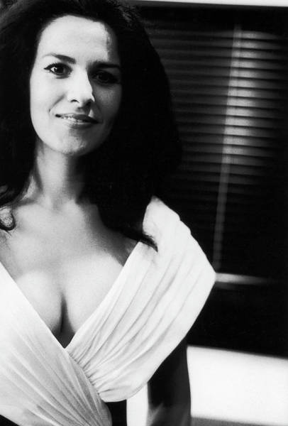 Neckline Photograph - Angela Gheorghiu In Montpellier, France by Francois Le Diascorn