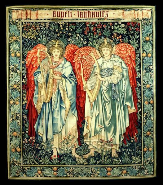 Harp Digital Art - Angeli Laudantes, Edward Burne-jones by Tom Hill