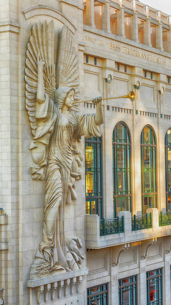 Wall Art - Photograph - Angelic Herald - Bass Hall #3 by Stephen Stookey