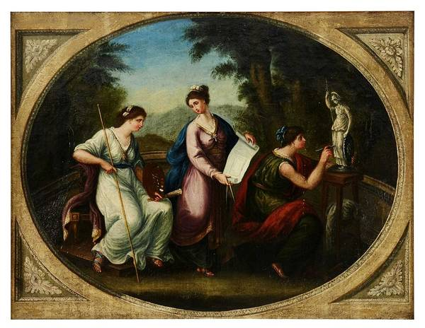 Wall Art - Painting - Angelica Kauffmann Circle Of, Italian School, C. 1780 Telemachus Returning To Penelope by Celestial Images