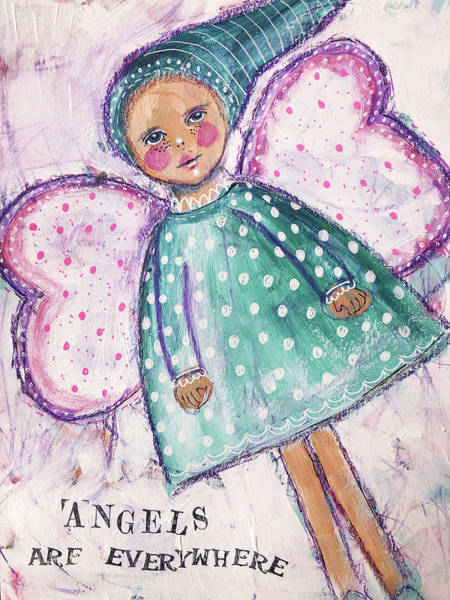 Wall Art - Mixed Media - Angels Are Everywhere by Lynn Colwell