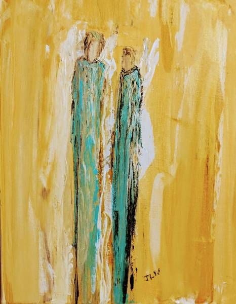 Painting - Angels Bring God's Love by Jennifer Nease