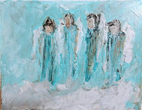 Painting - Angels Bring Peace by Jennifer Nease