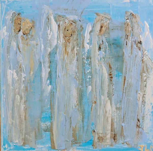 Painting - Angels Coming Together by Jennifer Nease
