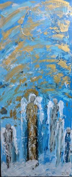 Painting - Angels For Comfort  by Jennifer Nease