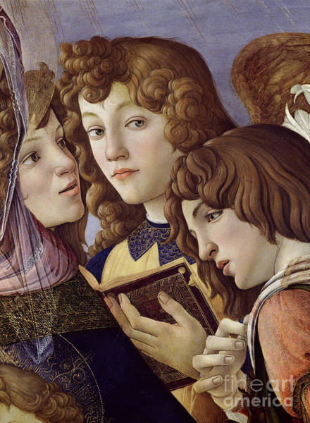 Wall Art - Painting - Angels From The Madonna Della Melagrana, Detail by Sandro Botticelli