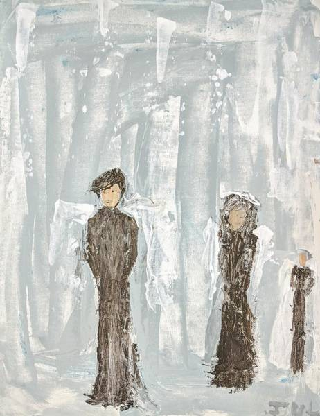 Painting - Angels In Black by Jennifer Nease