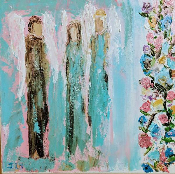 Painting - Angels In The Garden by Jennifer Nease