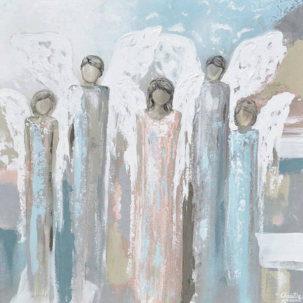 Wall Art - Painting - Angels Lovingly Surround You by Christine Bell
