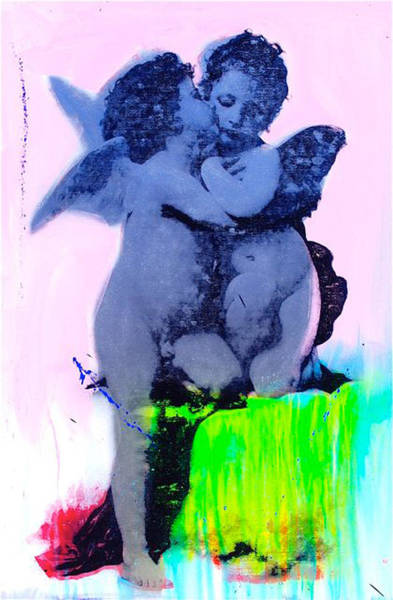Champagne Mixed Media - Angels Of Blue  by Shane Bowden