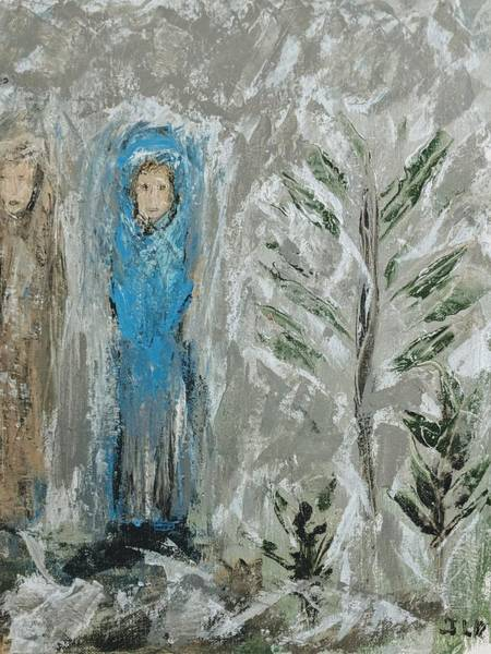 Painting - Angels On A Cold Night by Jennifer Nease