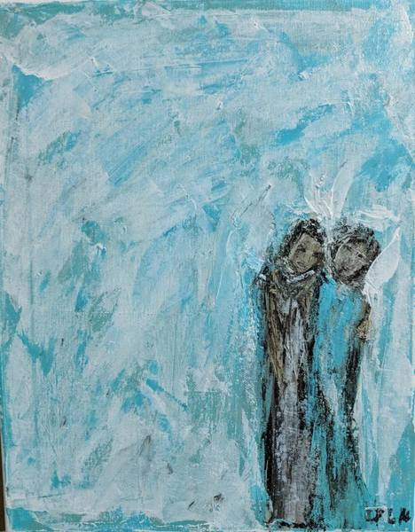 Painting - Angels Posing For Their Portrait by Jennifer Nease