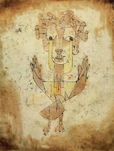 Wall Art - Painting - Angelus Novus, 1920 by Paul Klee