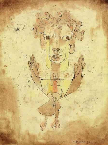 Wall Art - Painting - Angelus Novus, New Angel by Paul Klee