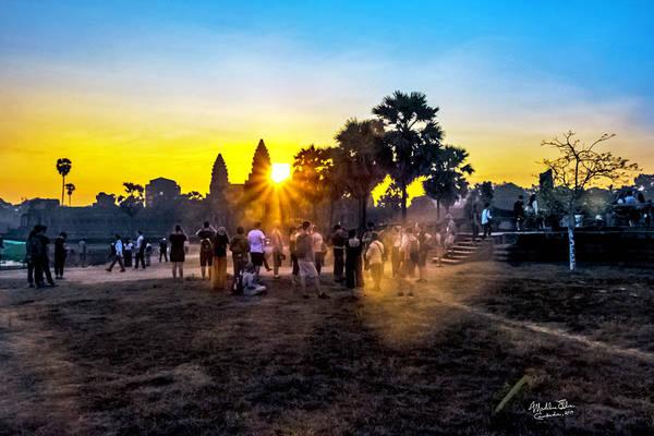 Angkor Wat Wall Art - Photograph - Angkor Wat At Sunrise - Siem Reap, Cambodia by Madeline Ellis