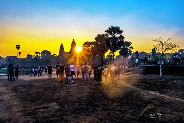Wall Art - Photograph - Angkor Wat At Sunrise - Siem Reap, Cambodia by Madeline Ellis