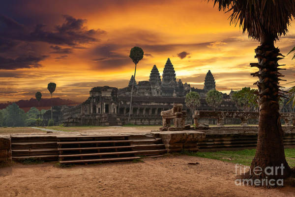 Angkor Wall Art - Photograph - Angkor Wat At Sunset by Muzhik