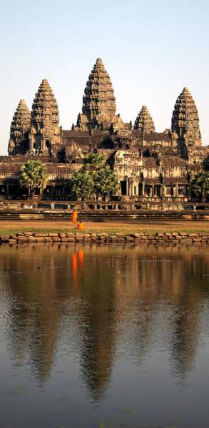 Wall Art - Photograph - Angkor Wat, Cambodia Monks And by Namussi