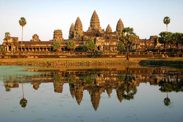 Art And Craft Photograph - Angkor Wat Reflection by Molloykeith