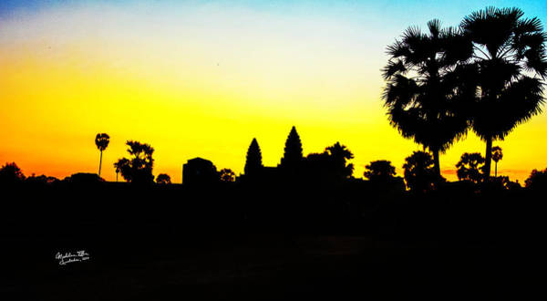 Wall Art - Photograph - Angkor Wat Silhouette by Madeline Ellis
