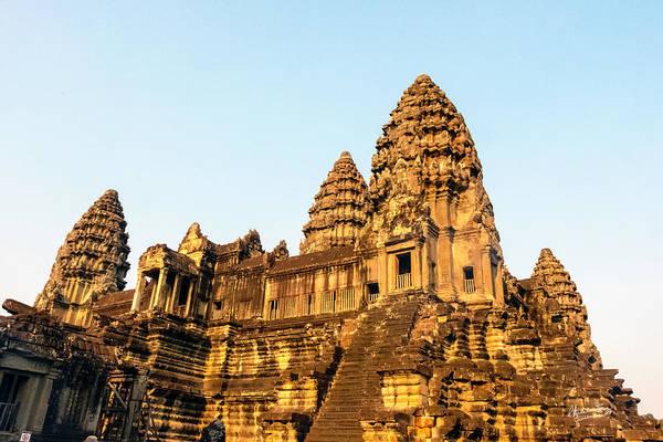 Angkor Wat Wall Art - Photograph - Angkor Wat Temple 1, Cambodia by Madeline Ellis