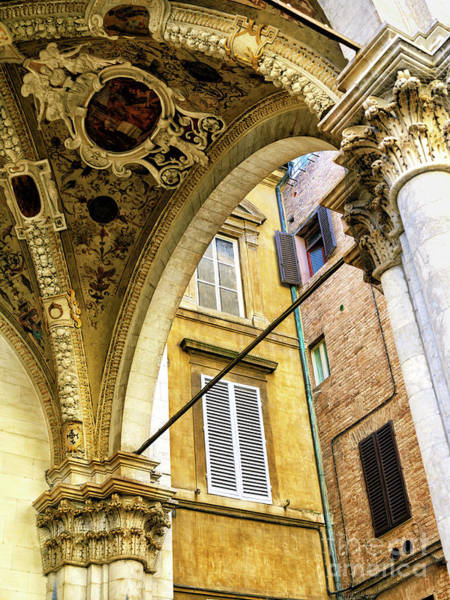 Photograph - Angles In Siena by John Rizzuto