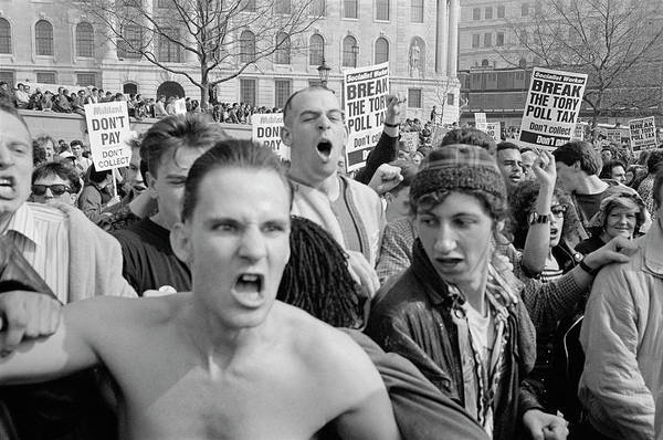 Shirtless Photograph - Angry Protest by Steve Eason