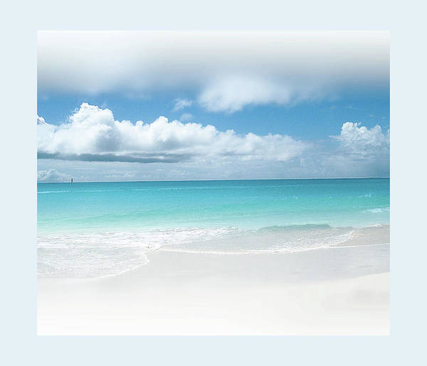 Art Prints Photograph - Anguilla White Sand And Turquoise Water by Anne Strickland Fine Art Photography