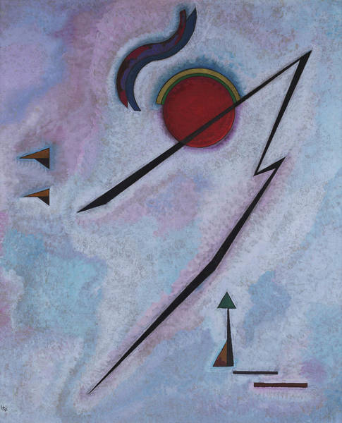 Visual Illusion Wall Art - Painting - Angular Line - Linea Angolare, 1930 by Wassily Kandinsky