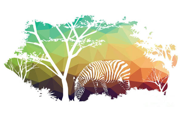 Wall Art - Digital Art - Animal Of Wildlife Zebra by Ananaline