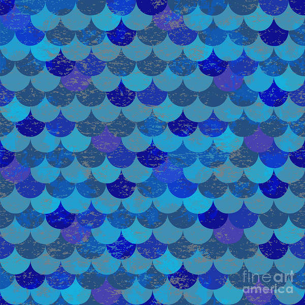 Wall Art - Digital Art - Animal Print. Fish Scales. Animal by Koba Anastasia