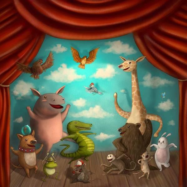 Square Digital Art - Animales Escenario by David Niño / Koch1no (bogotá)