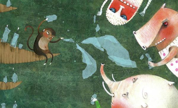 Illustration Digital Art - Animals That Drink by Illustration