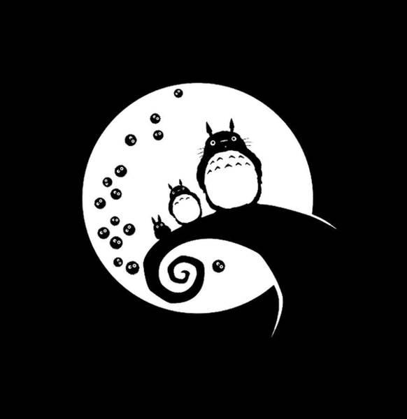 Totoro Digital Art - Anime by Yuri Gagari