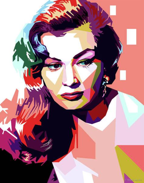 Pop Star Digital Art - Anita Ekberg Pop Art by Stars-on- Art