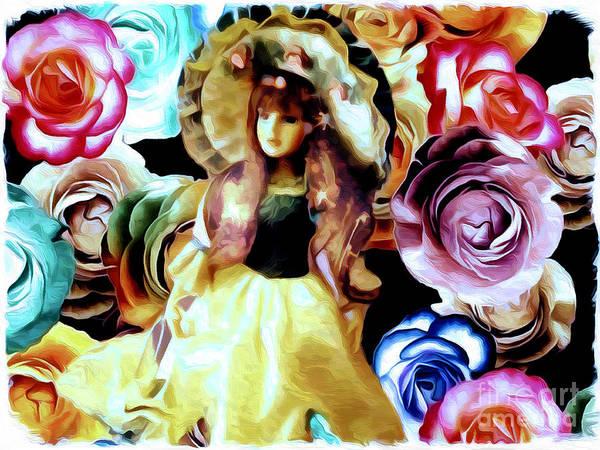 Mixed Media - Anita Faye's Rose Garden by Debra Lynch
